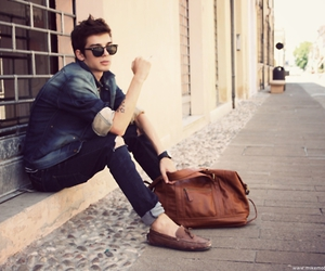 fashion, bag, and boy image