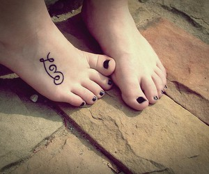 foot, love, and Tattoos image