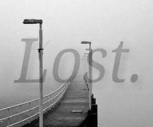 lost, sad, and dark image