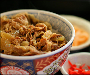 beef, japanese food, and onion image