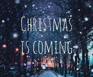 christmas, cold, and come image