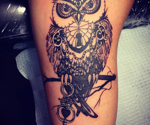 tattoo, owl, and cool image