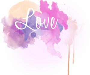 love, pink, and art image