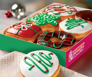 dunkin donuts, chocolate, and Cookies image