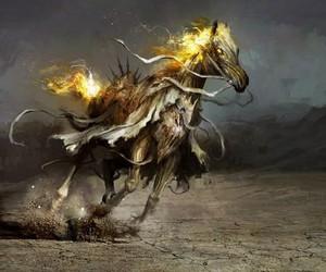 apocalypse, Devil, and horse image