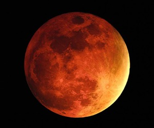 moon, red, and eclipse image