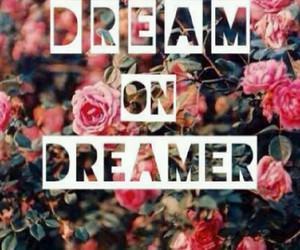 Dream, dreamer, and flowers image