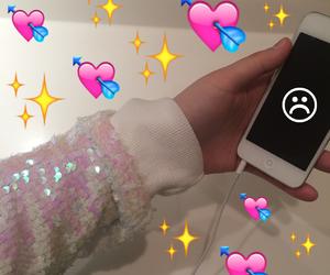sad, emoji, and iphone image
