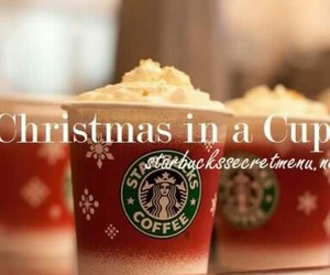 christmas, coffee, and cup image