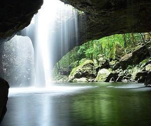 landscape, nature, and waterfall image