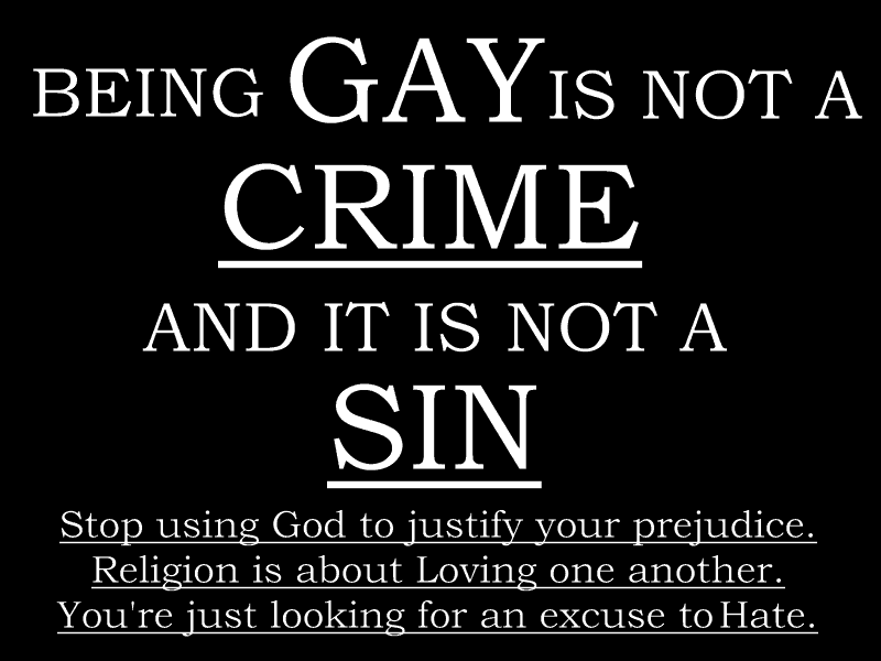 Stop being gay god