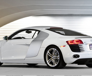 r8, white, and audi image