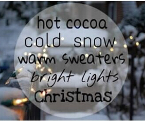bright light, cocoa, and sweater image