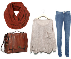 clothes, snood, and bag image