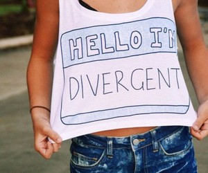 hello, divergent, and t-shirt image