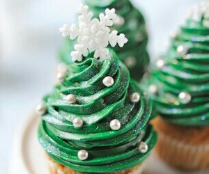 christmas, cupcake, and christmas tree image
