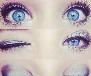 blue, pretty, and blue eyes image