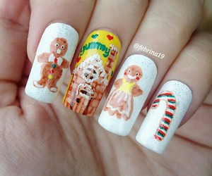 christmas, cookie, and nail image