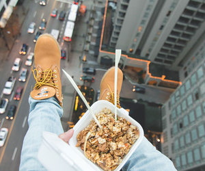 food, city, and shoes image