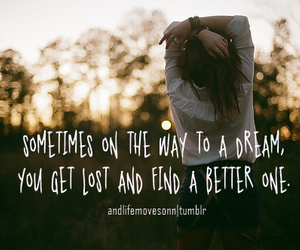Dream, quote, and lost image