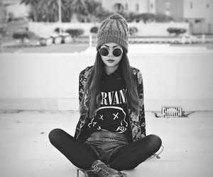 black and white, chill, and outfit image