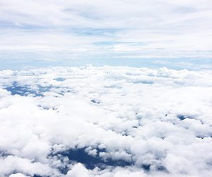 clouds, heaven, and white image