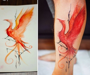 tattoo, drawing, and fire image