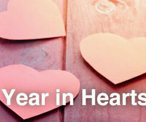 hearts, year in hearts, and we.heart it image