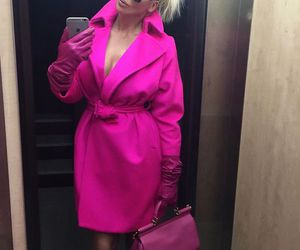 pink, coat, and luxury image