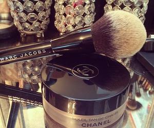 brush, powder, and chanel image