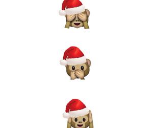 christmas, monkey, and emoji image