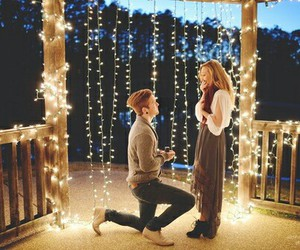 girl & boy, true love, and proposal image