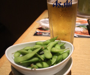 beans, japanese, and beer image