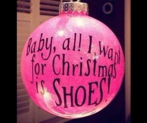 christmas, pink, and shoes image