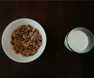 cereal, milk, and eat image