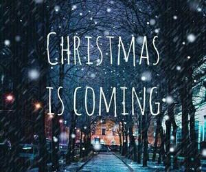 christmas, coming, and snow image