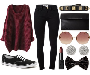 clothes, earrings, and shoes image