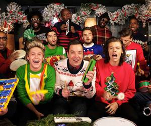 1d, jimmy kimmel live, and one direction image