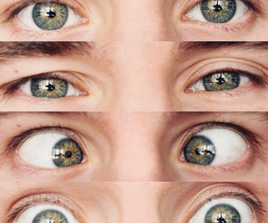 eyes, connor franta, and green image
