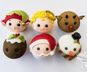angel, christmas, and cupcakes image