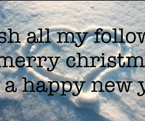followers, happy new year, and merry christmas image