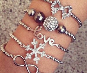 bracelet, love, and fashion image