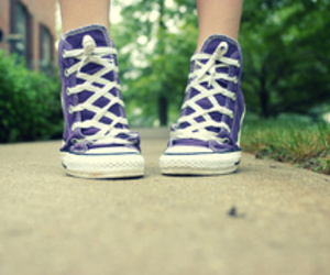 shoes, converse, and purple image