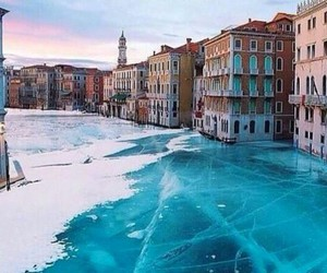 frozen, venice, and ice image