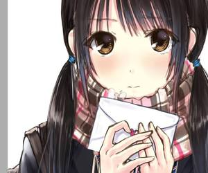 anime, cute, and love letter image