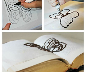 book, diy, and butterfly image