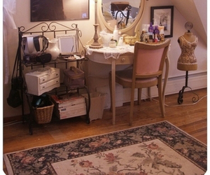 bedroom, classic, and dressing table image