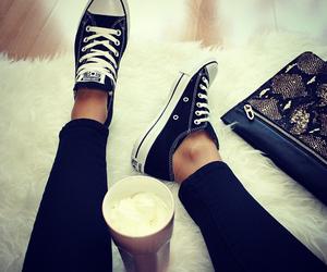 fashion, black, and converse image