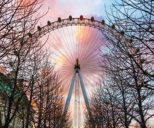 london, travel, and london eye image