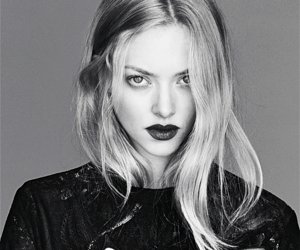 amanda seyfried, black and white, and actress image